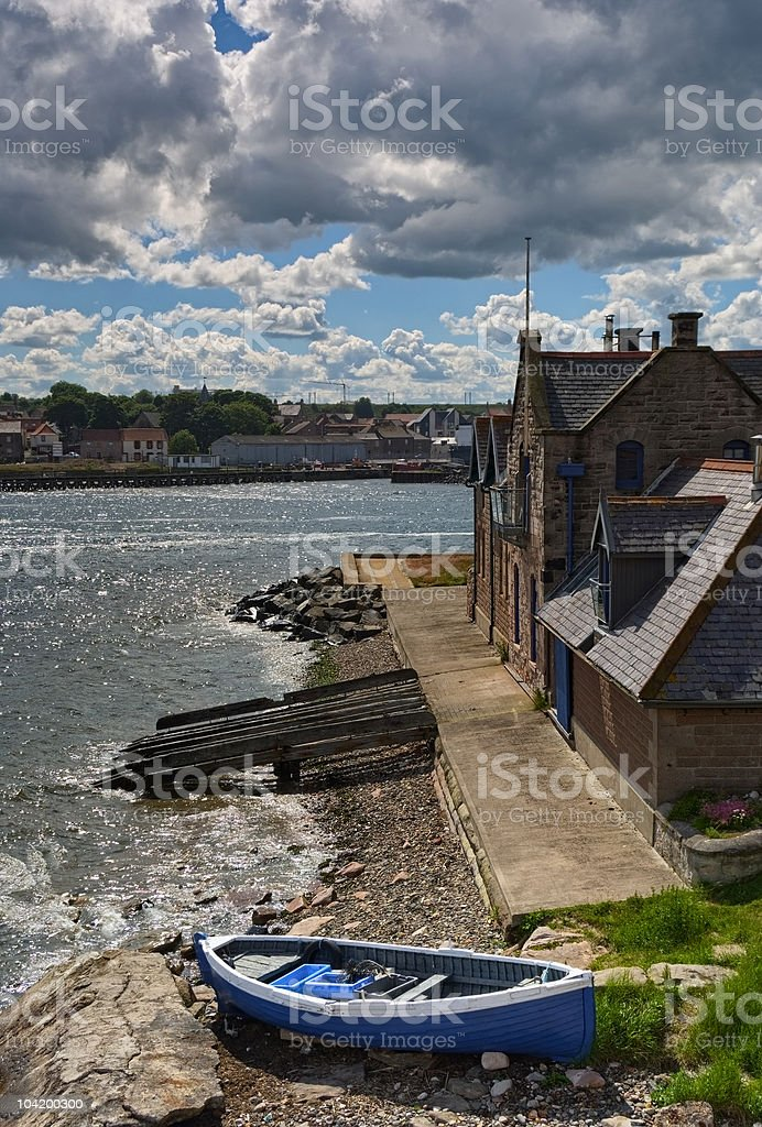 River scene at Berwick-upon-Tweed stock photo