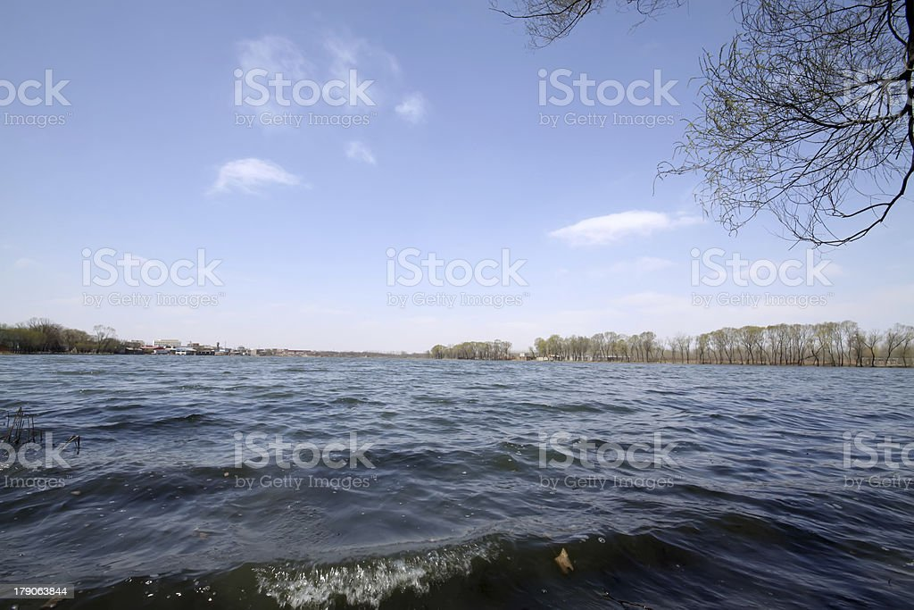 river scenery royalty-free stock photo