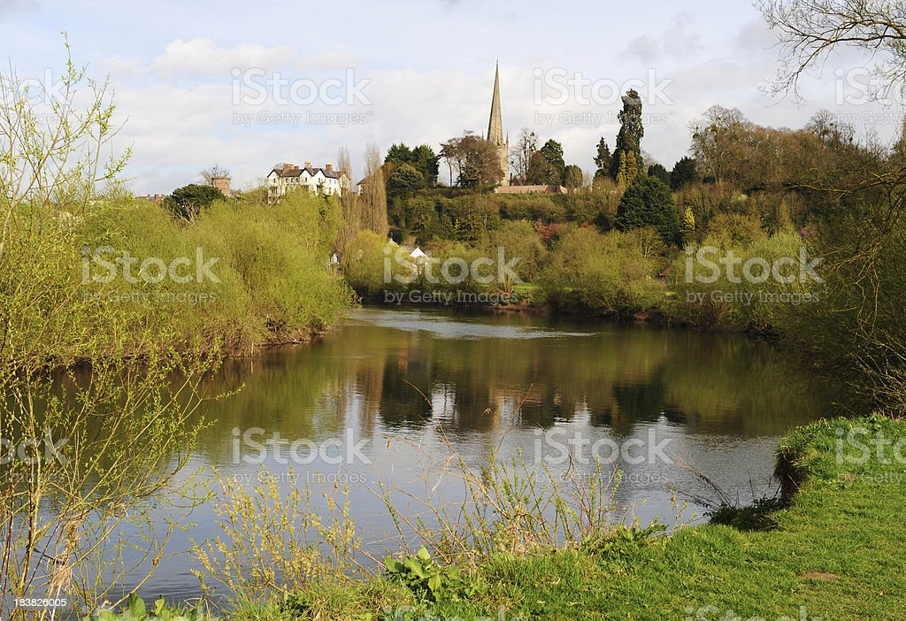 River Scenic Ross on Wye stock photo