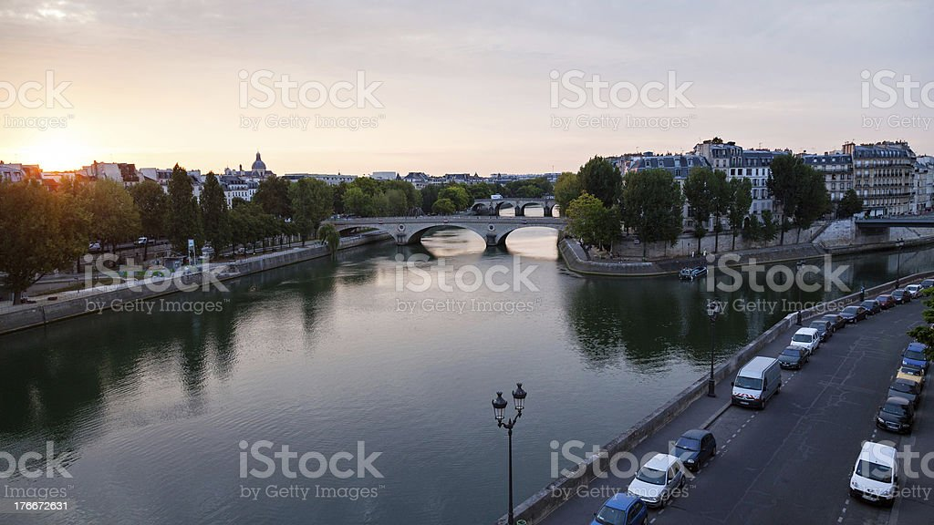 River Seine in the morning royalty-free stock photo