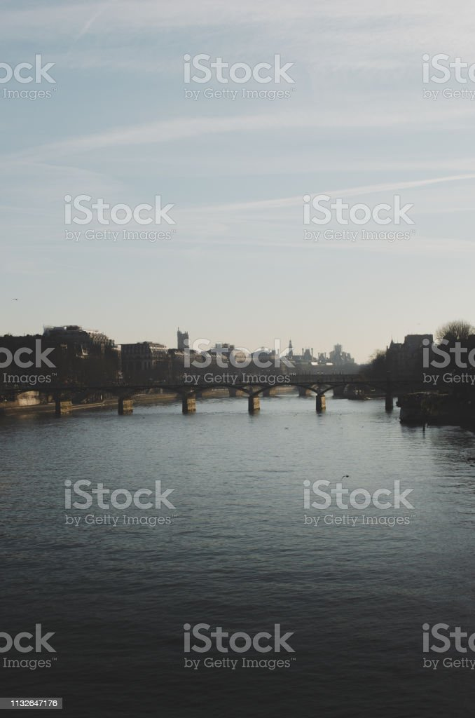 River Sena stock photo