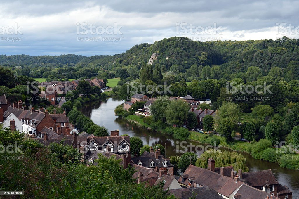 River Severn, Bridgenorth stock photo