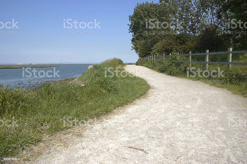 River side footpath royalty-free stock photo