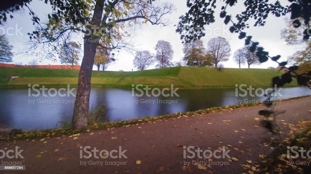 River side path stock photo