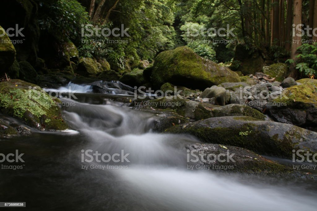 River Smoke stock photo