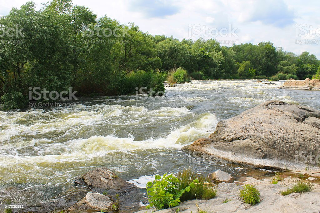 River Southern Bug in Ukraine stock photo