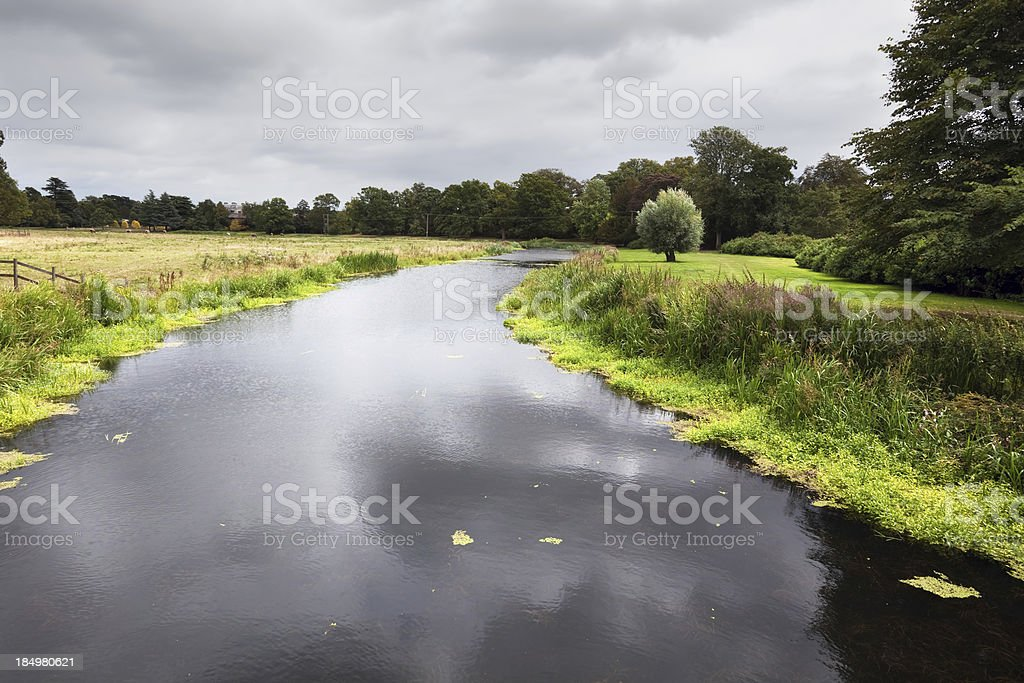 River Sow in Staffordshire, England stock photo