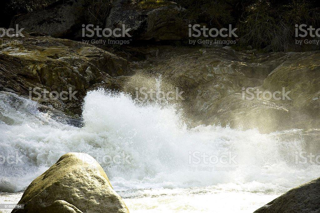 River splash stock photo
