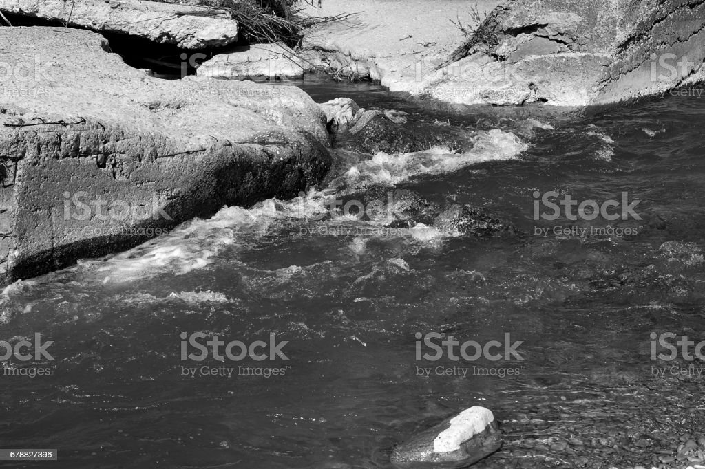 River stones in the water. royalty-free stock photo