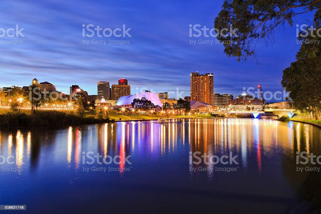 ADE CBD River sunrise stock photo