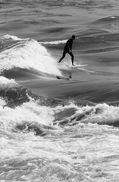 River Surfer stock photo