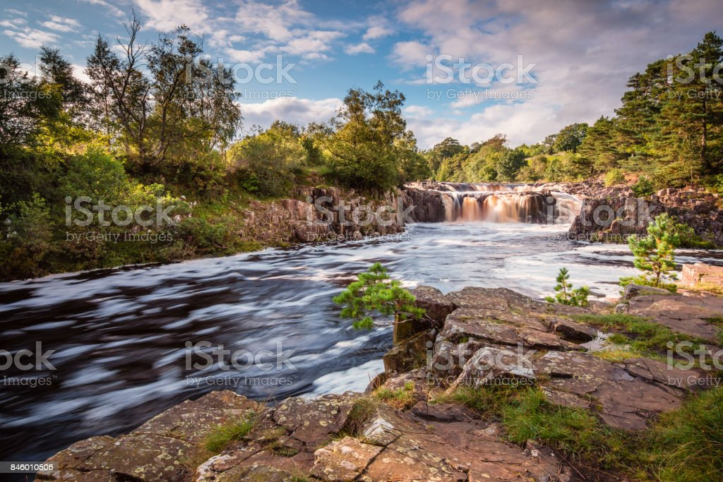 River Tees and Low Force Waterfall stock photo