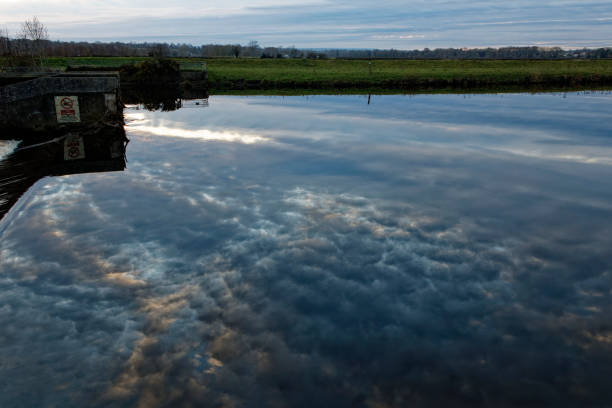 River Tees Reflections stock photo