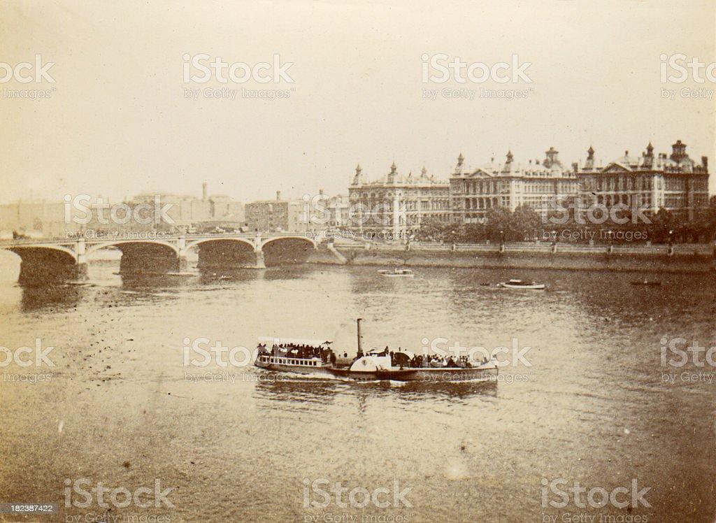 River Thames and London Bridge stock photo