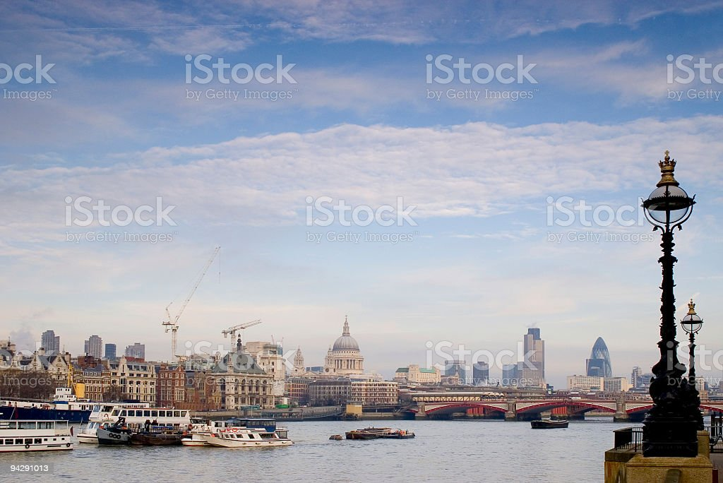 River Thames and London skyline royalty-free stock photo