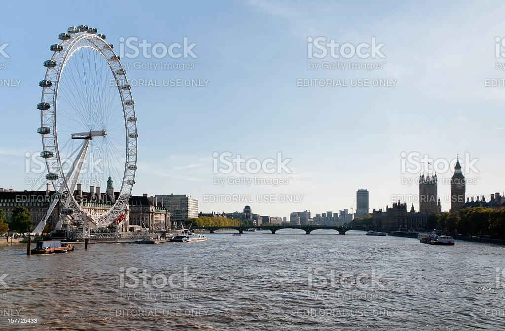 River Thames and the Millenium Wheel royalty-free stock photo