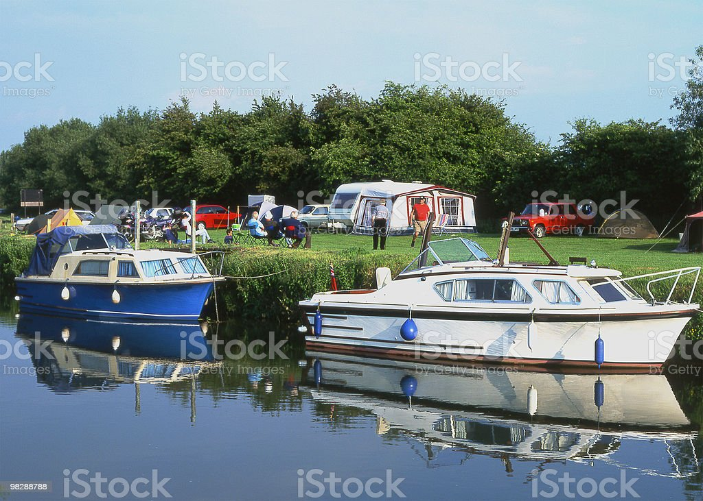 River Thames at Buckland Oxfordshire. England royalty-free stock photo
