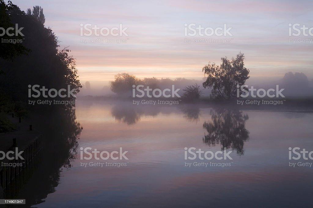 River Thames at Dawn stock photo