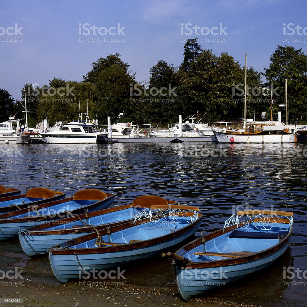 River Thames at East Molesey in Surrey. England royalty-free stock photo