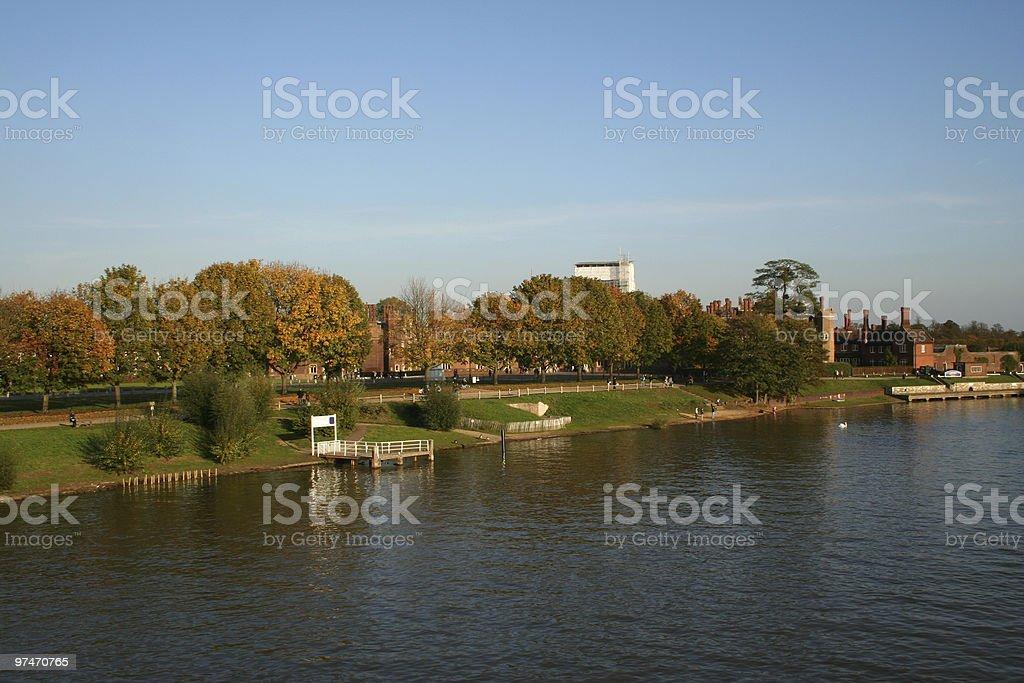 River Thames at Hampton Court. stock photo