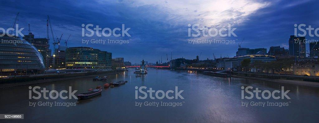 river thames at night royalty-free stock photo
