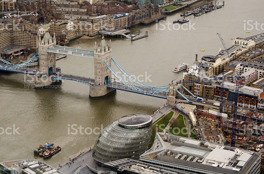 River Thames at Tower Bridge stock photo