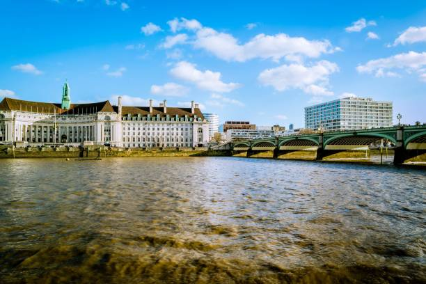 River Thames, County Hall stock photo