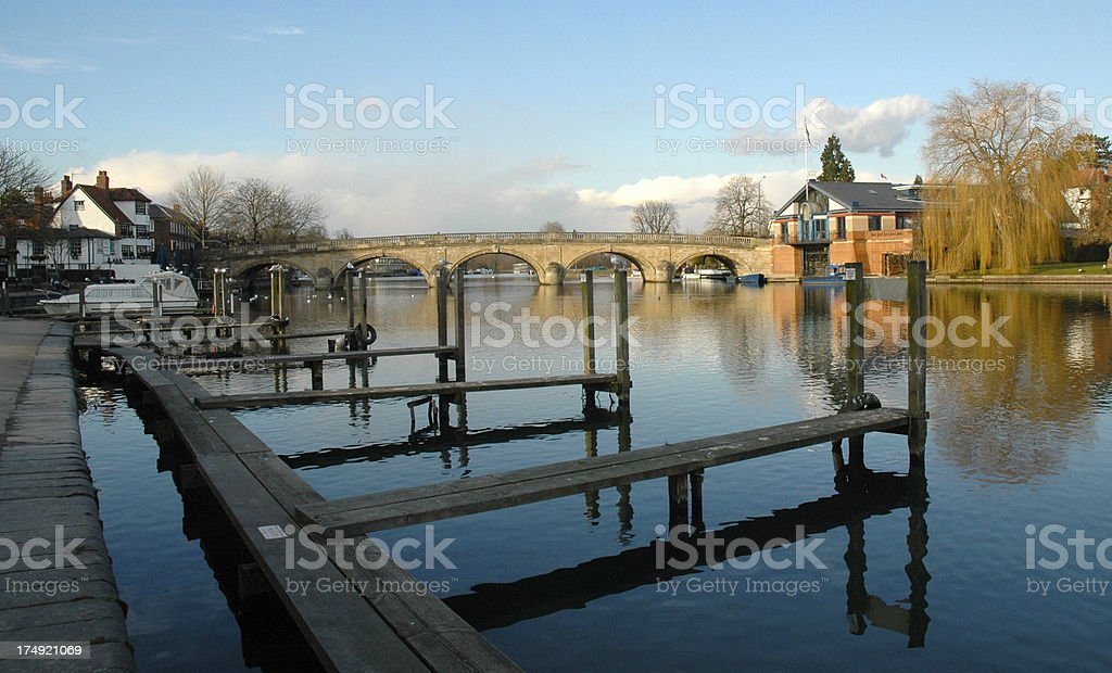 River Thames in Henley stock photo