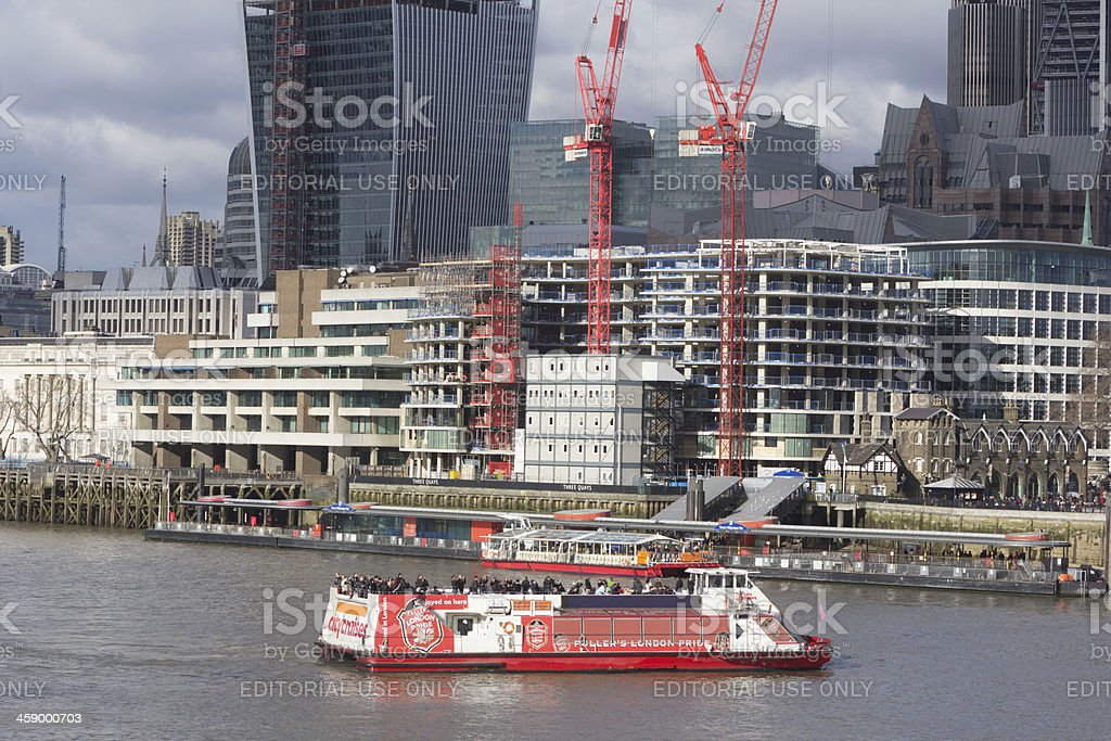 River Thames in London, England royalty-free stock photo