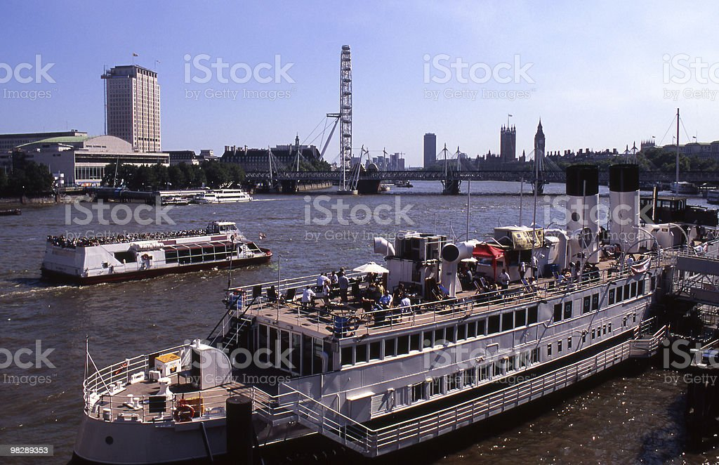 River Thames in London. England royalty-free stock photo
