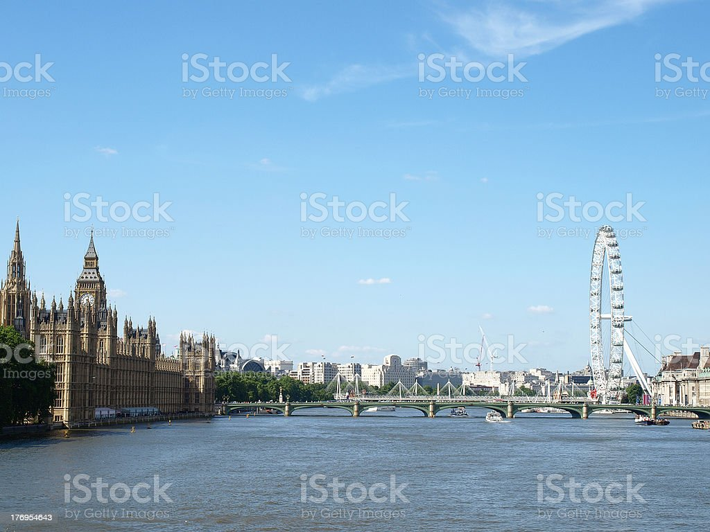 River Thames royalty-free stock photo