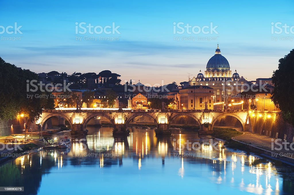 River Tiber in Rome - Italy royalty-free stock photo