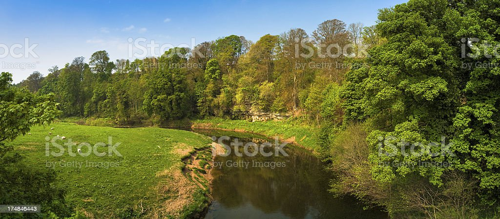 River Till, Berwick-upon-Tweed, Northumberland royalty-free stock photo