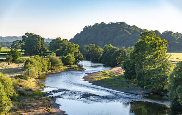 River Towy in Llandeilo in South Wales River Towy in Llandeilo in South Wales south wales stock pictures, royalty-free photos & images