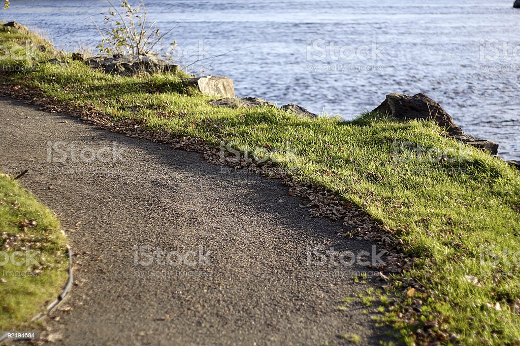 River trail Lizenzfreies stock-foto