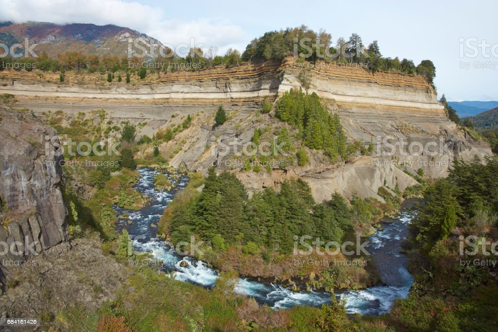River Truful-Truful in Conguillio National Park, Chile royalty-free stock photo
