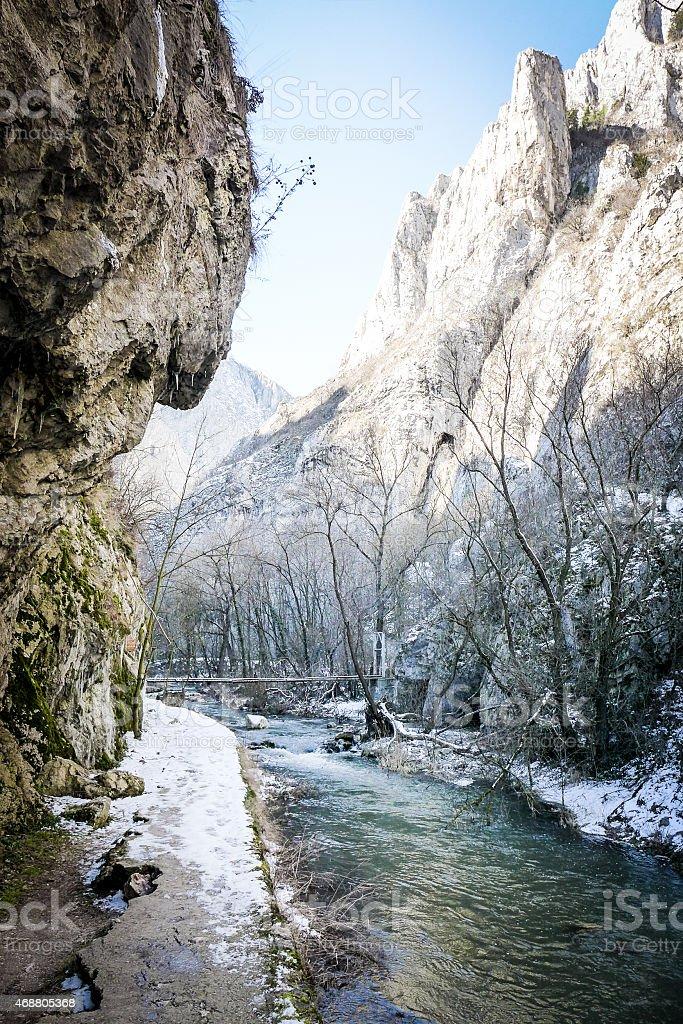 River - Turda Gorge - Cheile Turzii, Transylvania, Romania stock photo