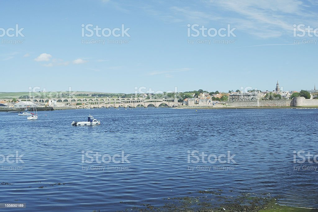 river Tweed estuary at Berwick stock photo