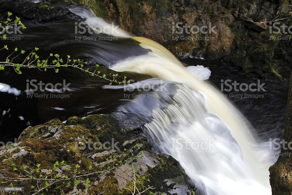 River Twiss Waterfall royalty-free stock photo