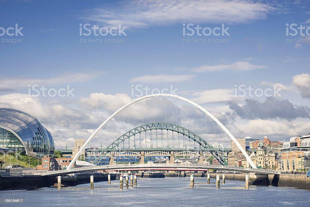 River Tyne Bridges stock photo