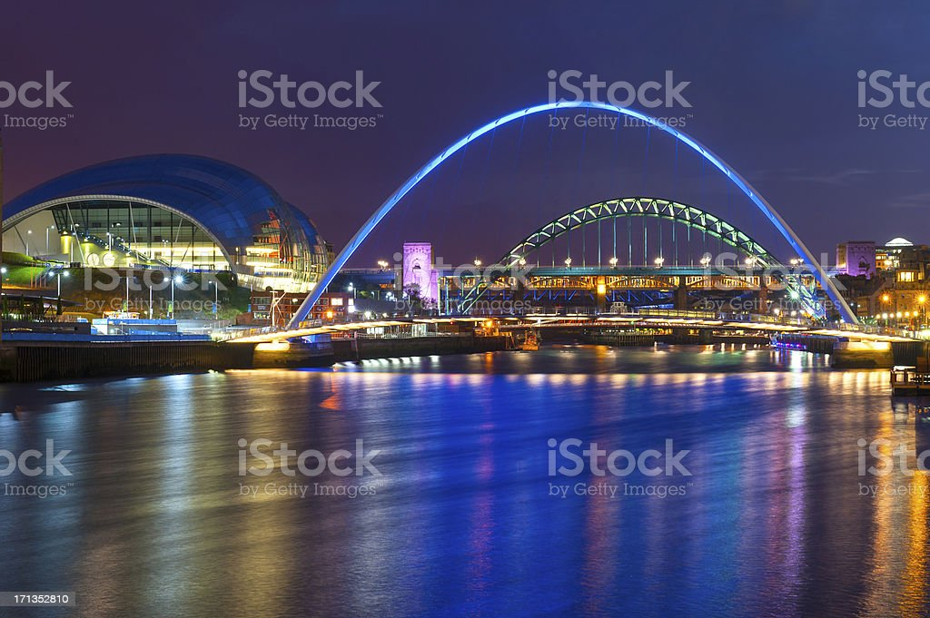 River Tyne, Newcastle-Upon-Tyne, England stock photo