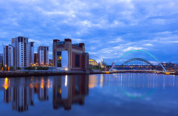 river tyne on the newcastle gateshead quayside england - gateshead stock photos and pictures