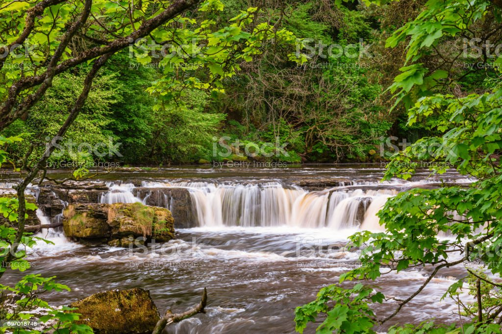 River Ure at Upper Aysgarth Falls stock photo