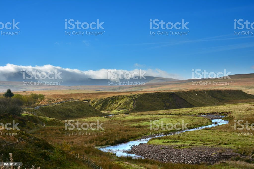 River Usk in Wales stock photo