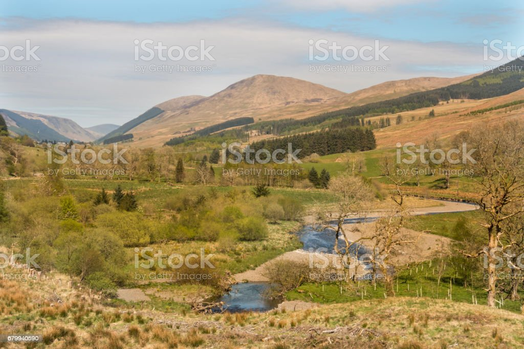 River valley stock photo