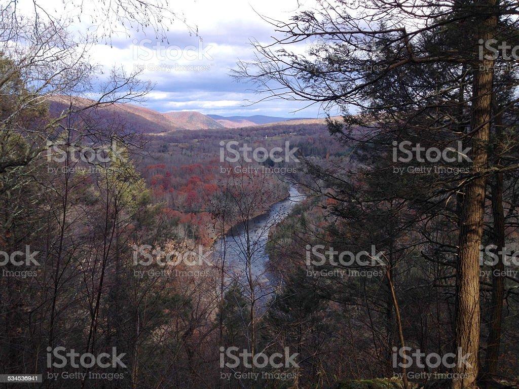 River Valley Scene stock photo