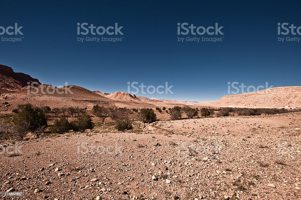 River Valley, Tamdaght, Morocco, North Africa stock photo