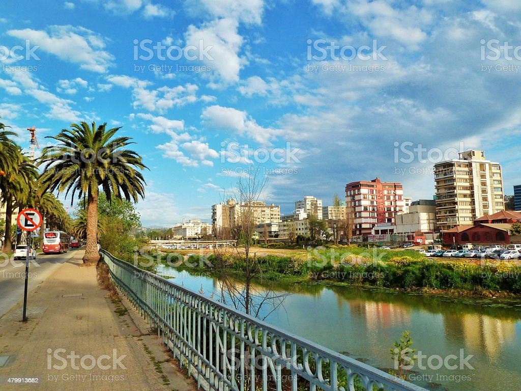 River view 01 stock photo