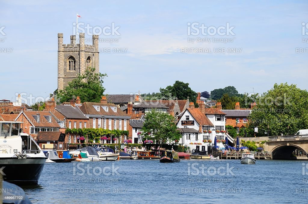River view, Henley-on-Thames. stock photo