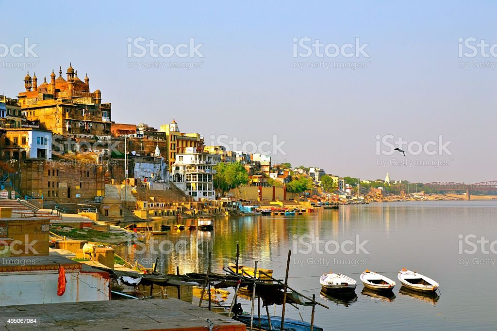 River View of Varanasi, India stock photo